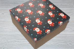 "Коробка (20×20×10см) упаковочная ""Санта Клаус"""