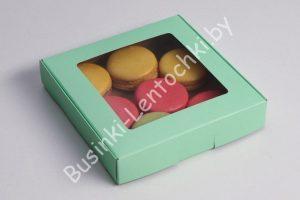 "Крафт-коробка (16×16×3см) ""мятная"""