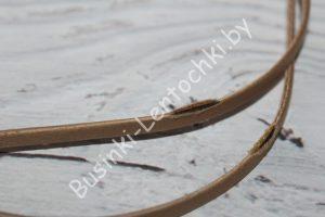 Обруч (5мм) металлический светло-коричневый (брак)
