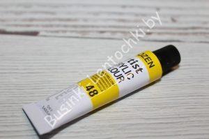 Краска (№48) акриловая жёлтая DOZEN