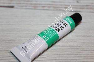 Краска (№43) акриловая салатовая DOZEN