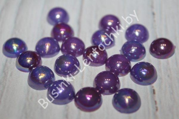 """Полубусины (10мм) фиолетовые перламутровые """"микс"""""""