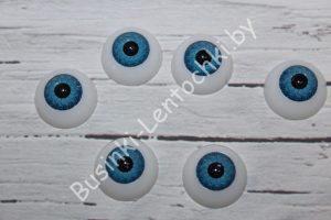 Глазки (20мм) круглые голубые