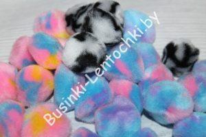Помпоны (2см) разноцветные