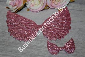 Патч «крылья» розовые