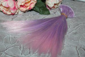 Трессы (17см) прямые двухцветные фиолетово-розовые