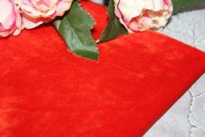 Мех (25×25см) коротковорсовый красный