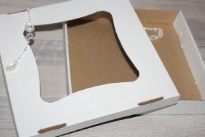 Крафт-коробка (200×200×30мм) с крышкой