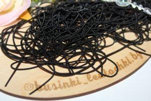 Канитель (10г) мягкая гладкая матовый чёрный