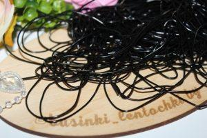 Канитель (10г) мягкая гладкая глянцевый чёрный
