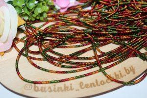 Канитель (10г) мягкая фигурная матовый разноцветный