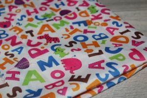 Ткань (50×50см) для рукоделия «буквы»