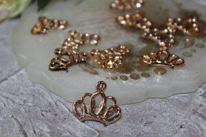 """Кабошоны (25×22мм) флоризель «корона» """"золото"""""""