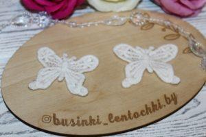 """Кружевной мотив (50×40мм) """"бабочки"""""""