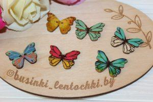 "Пуговицы (2×2,8см) ""бабочки"""
