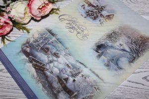 """Декупажная карта (21×29,5см) """"Снежные узоры"""""""