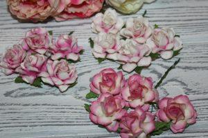 """Тайские бумажные цветы (3,5см) """"розочка"""""""