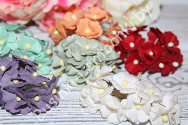 """Тайские бумажные цветы (2см) """"цветочки"""""""