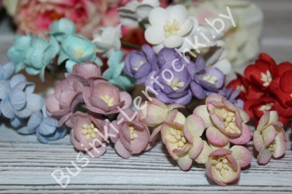 """Тайские бумажные цветы (2,5см) """"цветущая вишня"""""""