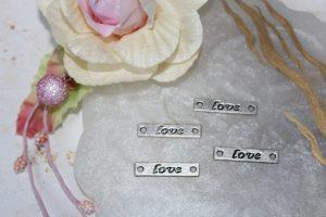 """Коннектор (25×5мм) """"Love"""" прямоугольный"""