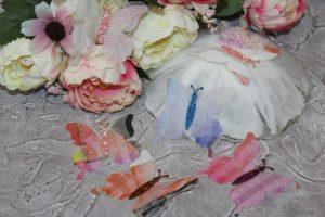 Бабочки (5см) шифоновые №2 разноцветные