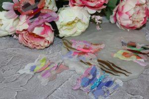Бабочки (5см) шифоновые №3 разноцветные