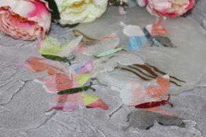 Бабочки (5см) шифоновые №5 разноцветные