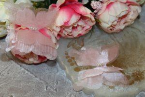 Бабочки (6см) шифоновые №10 светло-розовые