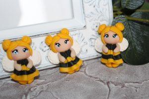 "Кабошон (3,2×4,2см) ""пчёлка"""