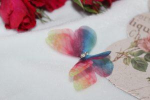 Бабочка (4,5см) шифоновая №3 микс