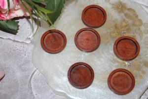 Основа для кабошона деревянная коричневая