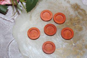 Основа (18мм) для кабошона деревянная оранжевая